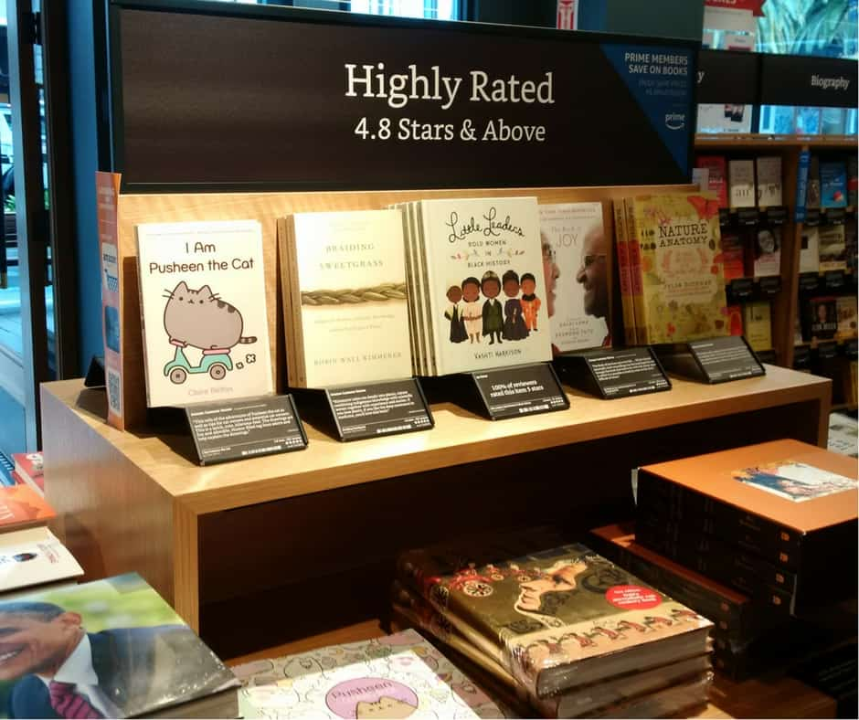 In Addition To The Shelves Arranged By Genre, Like Any Bookstore, There Are  Table And End Cap Displays Organized According To Amazon Rankings.